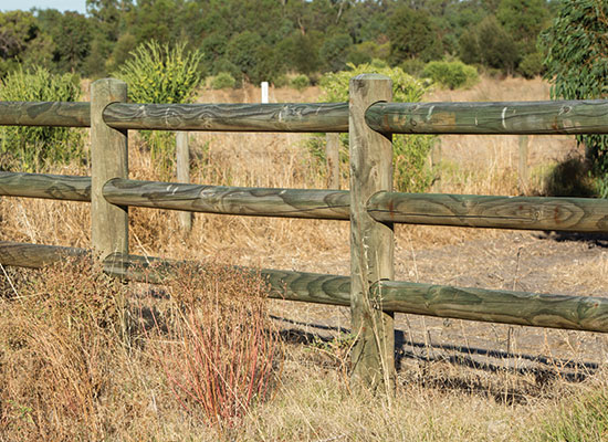PERMAPole Treble Rail Homestead Fencing