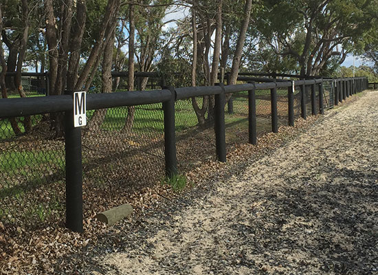 PERMAPole Inspiration |Dressage arena fencing with diamond mesh