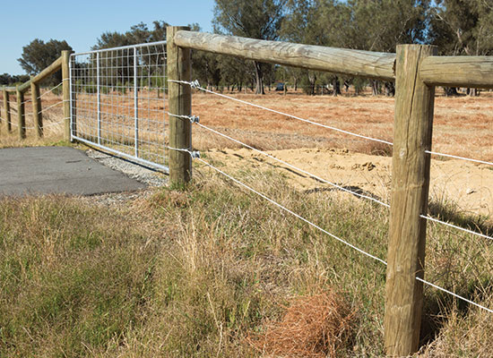 PERMAPole posts and rails with Sita wire.
